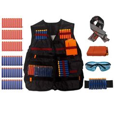Nerf Party Food, Nerf Birthday Party, King Birthday, Birthday Ideas, Cheap Nerf Guns, Nerf Vest, Nerf Gun Attachments, Nerf Accessories, Nerf War