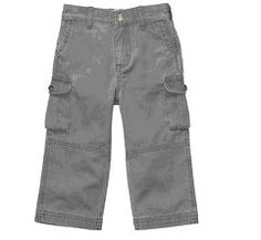 Carter's Infant Boys COTTON TWILL CARGO PANTS W/POCKETS Grey Sizes 3 & 9 MOS NWT  Buy It Now At:  http://stores.ebay.com/Bumblebee-Boutique99