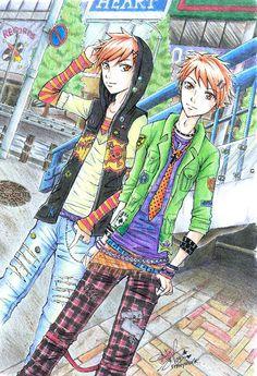 Hitachiin Twins. i love OHSHC and i love what the Hitachiin twins are wearing!! ^////<   >3<  <3