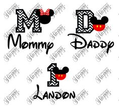 Mickey Birthday T-Shirts Family T-Shirts Mickey by HappyTessa