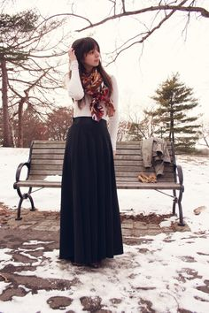 Google Image Result for http://images3.chictopia.com/photos/HollyDoll/6169033255/ivory-gap-sweater-purple-printed-h-m-scarf-black-maxi-skirt_400.jpg
