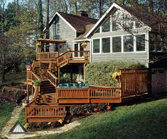 multi level decks pictures of multi level deck from atlanta decking and fence company - Multi Level Patio Designs