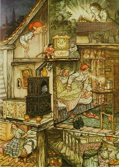 "Arthur Rackham  ""When night was come and the shop shut up.""  Fairy Tales by Hans Andersen George & Harrap & Co. 1932"