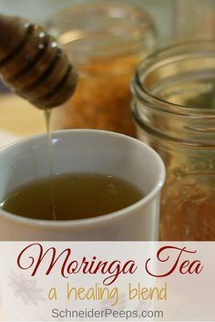 Moringa tea is a super nutritious and healing tea. Moringa has a very neutral flavor so it's easy to mix in with other more flavorful herbs. Healing Herbs, Medicinal Herbs, Natural Healing, Natural Medicine, Herbal Medicine, Tea Recipes, Real Food Recipes, Herbal Remedies, Natural Remedies
