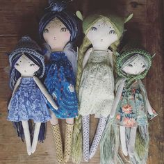 """@forestcreaturedolls's photo: """"I've had a few folks asking size difference between the Fairies and the pixies. Hope this helps! Faries 20""""// pixies 14"""""""""""