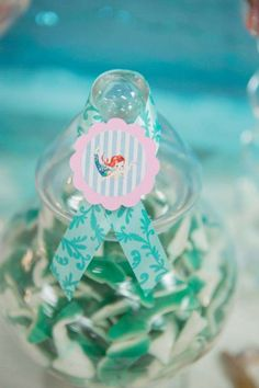 Vintage mermaid Baby Shower Party Ideas | Photo 2 of 46 | Catch My Party
