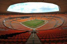 Le stade de Soccer City, dans le township de Soweto, près de Johannesburg, où se déroulera la finale de la Coupe du monde de foot.