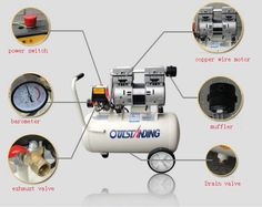 118.05$  Buy here - http://alizls.worldwells.pw/go.php?t=32697809428 - Noisy less light tool,Portable air compressor,0.7MPa pressure,18L air pool cylinder,economic speciality piston filling machine