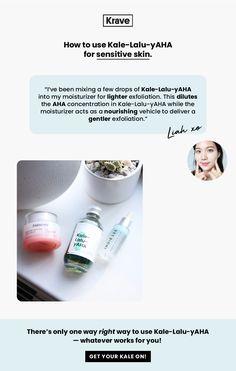 KraveBeauty Email Newsletter Design || Product Promotion/Skincare Education Email Newsletter Design, Email Newsletters, Email Web, Web Instagram, Sensitive Skin, My Design, Promotion, Skincare