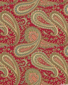 Mille Couleurs - Country Paisley Twist - Garnet Red