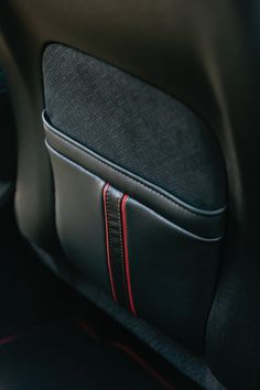 <high contrast, high drama. Scarlet piping makes a big impact in the Center Stage Lincoln MKZ.>