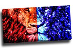 King of the Jungle - Lion Graphic Art on Gallery Wrapped Canvas