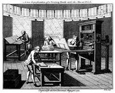 Resultado de imagen para imagenes de imprentas antiguas y modernas