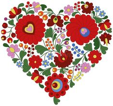 Illustration about Heart made with traditional Hungarian embroidery pattern from Kalocsa region. Illustration of kalocsa, intricate, folklore - 56621522 Chain Stitch Embroidery, Embroidery Hearts, Embroidery Motifs, Learn Embroidery, Embroidery Designs, Embroidery Dress, Stitch Head, Hungarian Embroidery, Heart Patterns