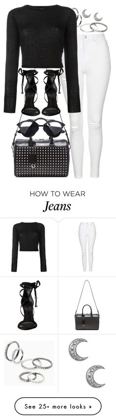 """""""monochromatic"""" by sophiasstyle on Polyvore featuring MANGO, Topshop, Yves Saint Laurent, Forte Forte, Schutz and monochrome"""