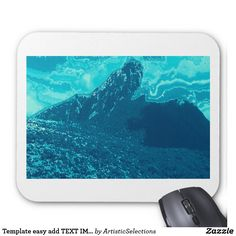 Template easy add TEXT IMG Greeting Return+Gifts Mouse Pad