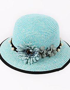 Feminino Chapéu de sol Feminino Vintage / Casual Primavera / Verão Linho