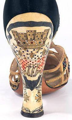 Art Déco - Chaussures Salomé - Delman - Vers 1935