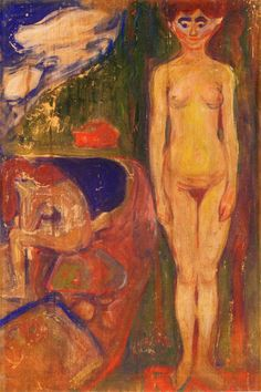 Two Women, Symbolic Study (1898) Edvard Munch, Amedeo Modigliani, Francis Bacon, Oslo, Karl Schmidt Rottluff, List Of Paintings, Z Arts, Impressionism, Printmaking