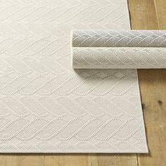 Cable Knit Performance Rug   Ballard Designs