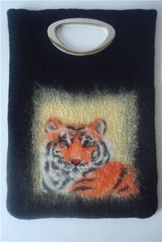 """Сумка """"Тигр"""" из войлока. - Ярмарка Мастеров - ручная работа, handmade"""