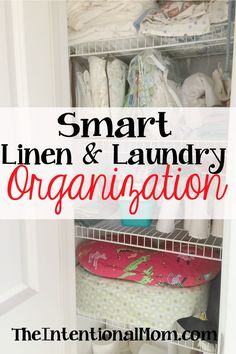 Smart Linen & Laundry Organization Organizing the linen & laundry isn't fun but it greatly reduces both mess and stress. Here's what you need to know for smart linen & laundry organization! Linen Closet Organization, Household Organization, Home Organization Hacks, Organizing Your Home, Organising, Laundry Design, Homekeeping, Organize Your Life, Getting Organized