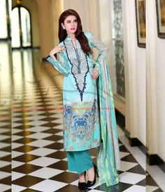 Lala Classic Cotton Embroidered lawn Suits Vol 1. CCE_01A