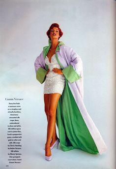 Linda Evangelista | Photography by Patrick Demarchelier | For Vogue UK | October 1991