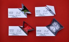 https://flic.kr/p/5Y5Uas | Origami Business Card | You can not print on your card that you fold paper, and leave the card flat. It may be difficult to produce, but hey, I have made a 128 grid once...