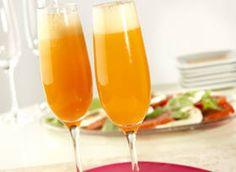 Bellini Splash ~ Champagne, V8 Splash Mango Peach, and Peach Nectar