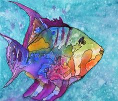 watercolor: Reed's Fish by Jo Dunnick Watercolor Fish, Watercolor Pictures, Watercolor Animals, Watercolor Paintings, Fish Paintings, Watercolours, Sea Life Art, Sea Art, Ocean Life