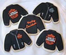 Harley Davidson Leather Jacket Cookies