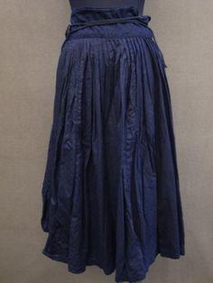 cir. 1940's indigo skirt