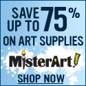 Save up to 75% on art & craft supplies