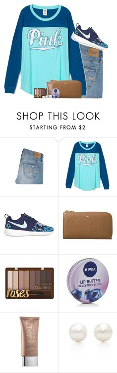 """You know that feeling when you get up to fast and you get dizzy? That's how it feels when we talk."" by red-velvet-n-pearls ❤ liked on Polyvore featuring Abercrombie & Fitch, NIKE, Nivea, Urban Decay, Tiffany & Co., women's clothing, women's fashion, women, female and woman"