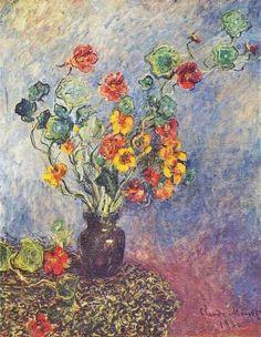 Vase de capucines (C Monet - W 548),1879