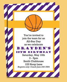 game time basketball party invitation march madness party