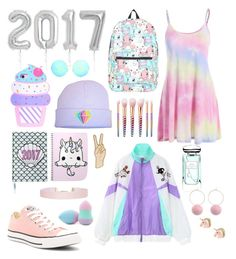 """""""2017"""" by chiara-calcagno ❤ liked on Polyvore featuring Chicnova Fashion, cutekawaii, Valfré, Converse, Nintendo, Victoria Beckham, Forever 21, Terry de Gunzburg, Humble Chic and Lucky Brand"""