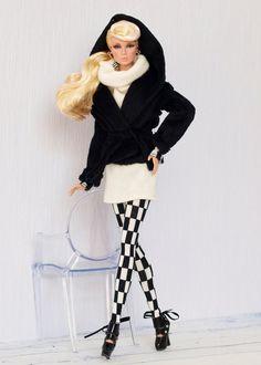 Tenue de Domino #1 pour Fashion Royalty, Poppy Parker, visage Nu, Barbie