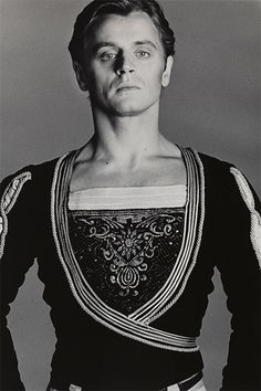 "Mikhail Baryshnikov, by Francesco Scavullo ~ ""Dancers have a tendency not to want to dance in the studio. Baryshnikov was one of the few who came in and danced and danced and danced."""