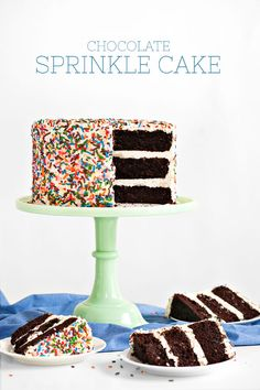 Tomorrow is National Chocolate Cake Day - and in honor of this great  holiday, I decided to prepare accordingly with this Chocolate Sprinkle  Cake...