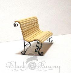 """Обещанный мастер-класс """"Миниатюрная скамейка"""" - Ярмарка Мастеров - ручная работа, handmade"""