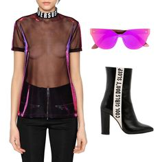 Rebel Chic #kultlike #outfit #black #leather