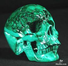 Malachite Crystal Skull. I want one of these