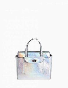 Prezzi e Sconti: #Mini tote rigido specchio grigio taglie M  ad Euro 19.95 in #Accessori #Moda donna