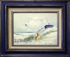 """""""Up-cycled thrift store painting. I added the TARDIS, and think it makes a much more ominous composition."""" -- what a good idea!!"""