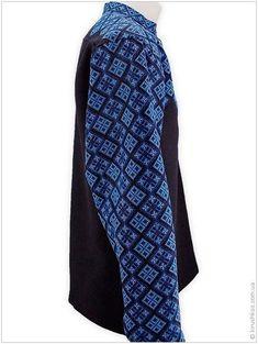 Екстравагантна чорна вишиванка з повністю розшитим рукавом - Товари -  Замовити чоловічі 39e1d858dd279