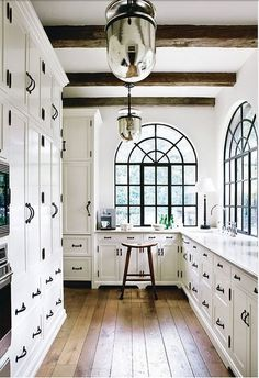 fixtures, windows, reclaimed wood floors, exposed beams and white