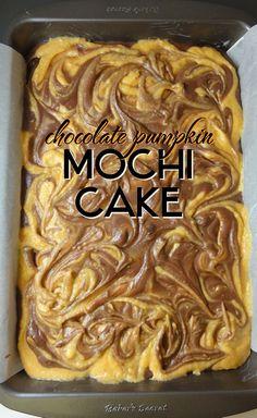 Chocolate Pumpkin Mochi Cake