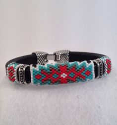 Native American Inspired Seed Beaded Licorice Leather